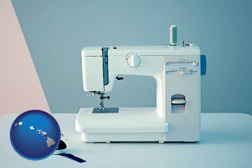 sewing machine - with Hawaii icon