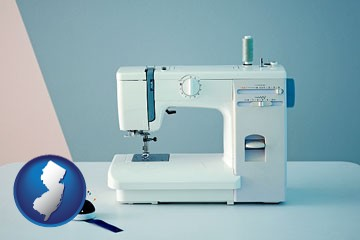 sewing machine - with New Jersey icon