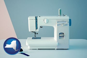 sewing machine - with New York icon
