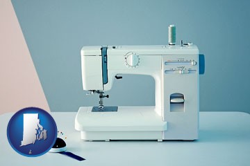 sewing machine - with Rhode Island icon