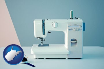 sewing machine - with West Virginia icon